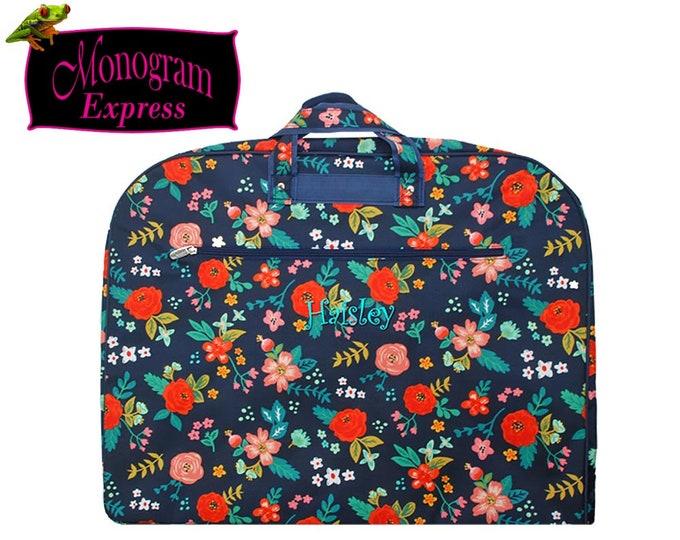 Personalized Garment Bag   Monogrammed Womens Luggage   Girls Hanging Clothes Bag   Team Travel Bag   Bridesmaid Gift   Poppies Garment Bag