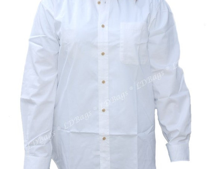 Personalized Women's White Shirt | Bachelorette Party Shirt | Monogram Bride and Bridesmaid Makeup Shirt | White Long Sleeve Button Up Shirt