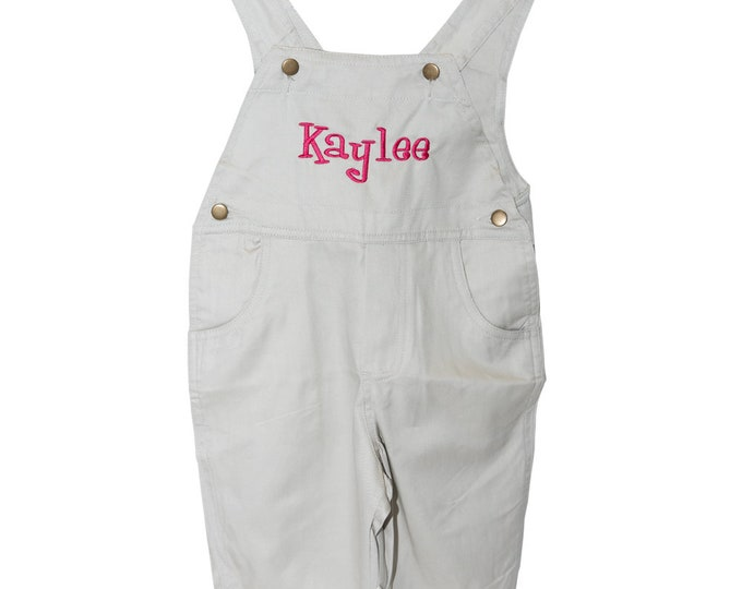 Toddler Girl Clothes, Short Alls, Overalls Personalized Overalls , Kids Overalls, Baby Overalls, Cotton Overalls Tan Toddler Overalls Size 2