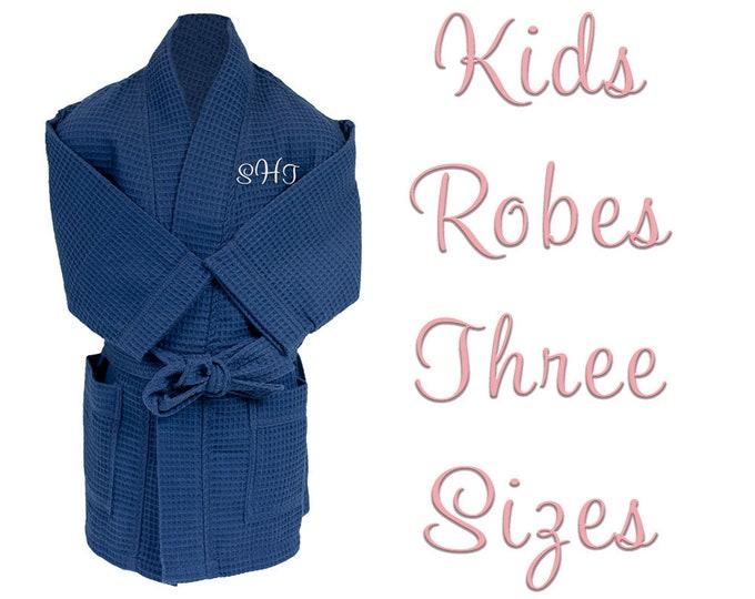 Personalized Kids Waffle Robes | Bath Robes | Waffle House Robes | Monogrammed Waffle Bath Robe | Black Robe | White Robe | Navy Robe
