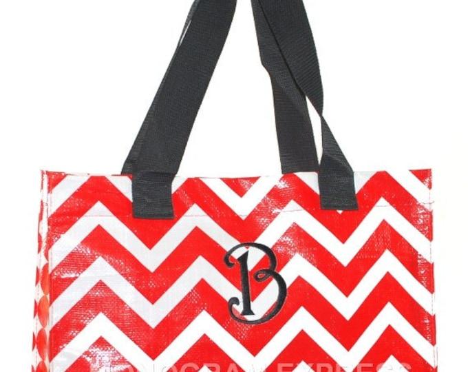 Chevron Red Large Tote | Chevron Beach Bag | Large Red Tote | Chevron Pool Tote | Red Pool Tote | Red Chevron Bag | Chevron Beach Tote Bag