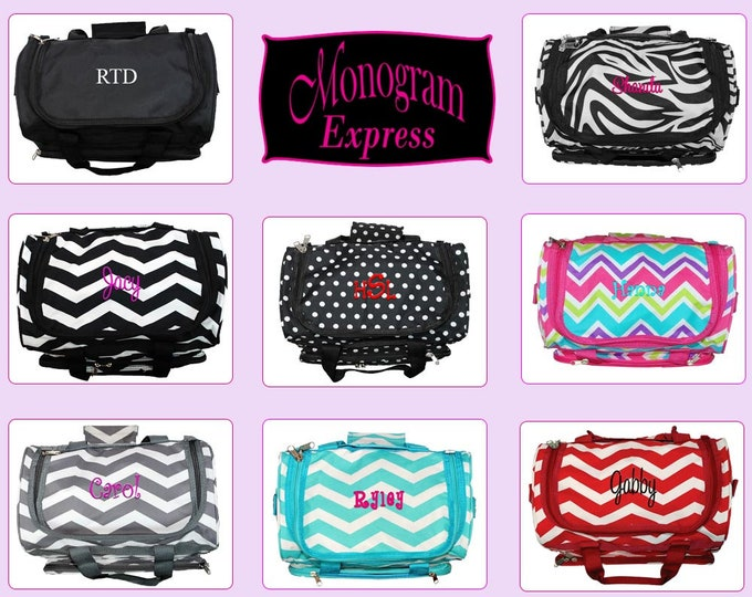"""Monogrammed Kids Duffel Bags 