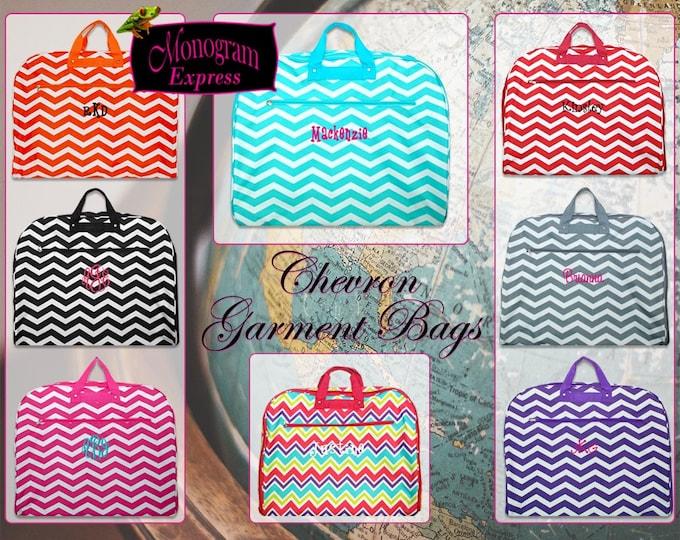 Personalized Chevron Garment Bag   Monogrammed Garment Bag   Luggage Garment Bag   Dance Cheer Bag   Bridesmaid Gift   Hanging Garment Bag