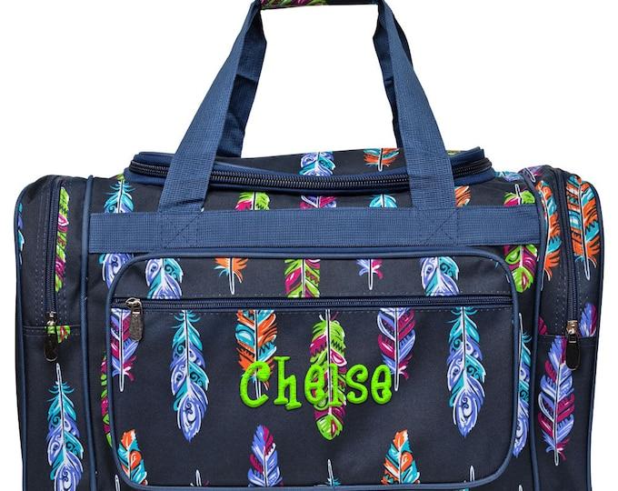 24096835ce Monogrammed Duffle Bag Personalized Duffle Bag Overnight Duffle Bag Girls Duffle  Bag Monogram Duffel Bag Navy