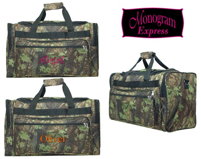 """Monogrammed Camouflage Duffle Bag 