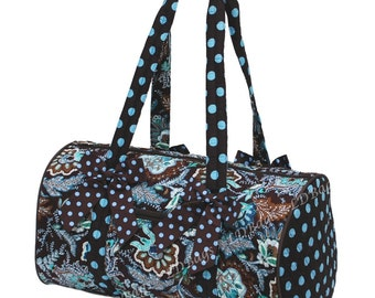 c2d8dbcaf8 Personalized Quilted Duffel Monogram Floral Duffle Bag Ladies