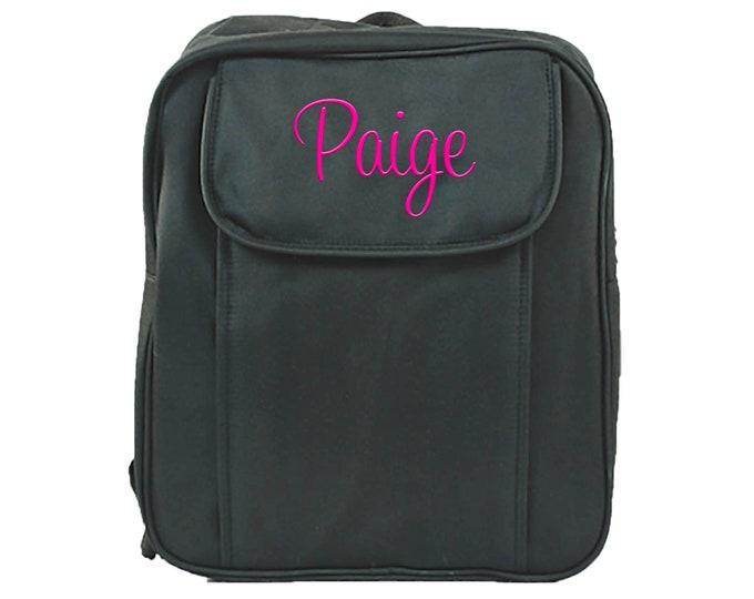 Personalized Toddler Backpack | Boys Monogrammed School Bookbag | Kids Kindergarten Backpack | Preteen Backpack | Preschool Black Backpack