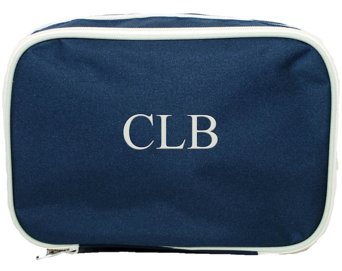 Personalized Bridesmaid Gift   Groomsmen Gift Personalized   Cosmetic Case Bag   Mens Dopp Kit   Custom Cosmetic Bag   Navy Cosmetic Bag