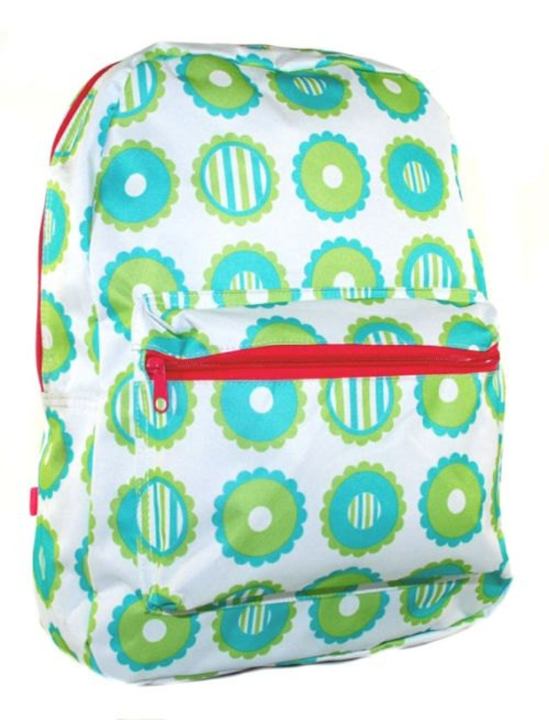 b5d296abbb2a Monogram Girls Backpack Personalized School Bookbag