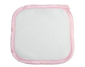 Fleece Baby Blanket | Baby Gift Blanket | Baby Blanket | Personalized Baby Blanket | Monogrammed Baby Blanket | Pink Trim Fleece Blanket