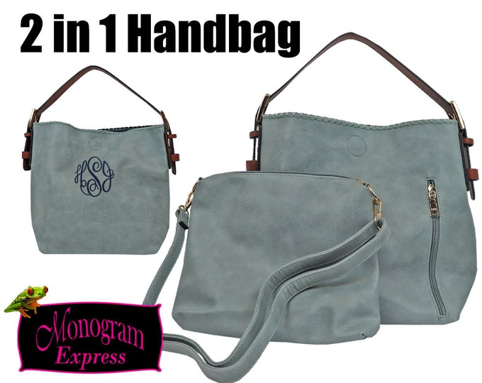Personalized 2 in 1 Bag | Conceal Carry Women's Purse | Monogrammed Hobo Bag | Conceal Carry Tote | Personalized Conceal Carry | Women's Bag