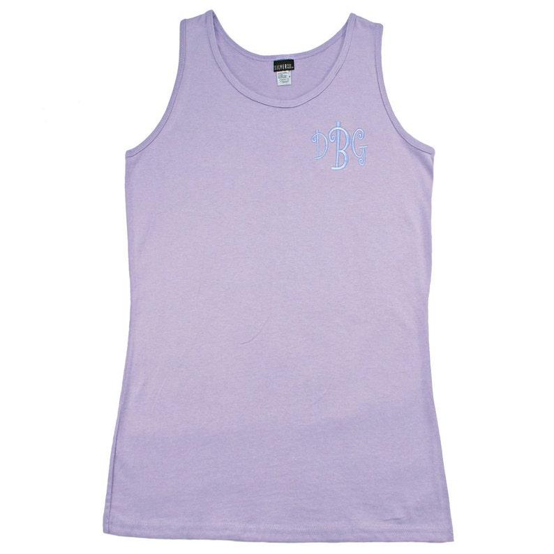fc19ec83a2d30 Womens Monogrammed Lavender Tank Top Bikini Cover ups | Etsy