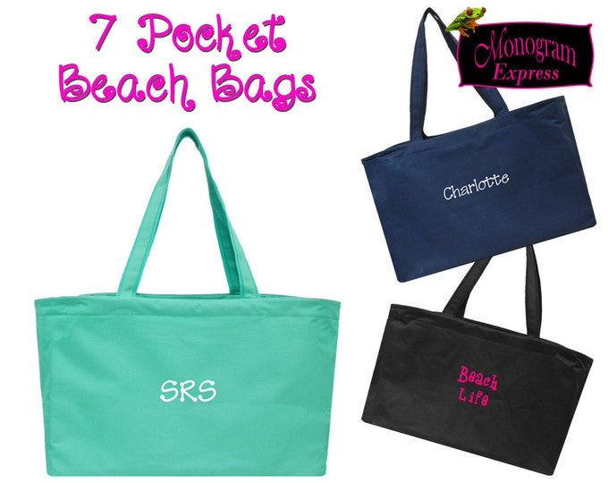 Personalized Large Beach Tote   Summer Picnic Bag   Woman's & Men's Travel Boat Tote   Tailgate Bag   Monogrammed Beach Bag X-Large