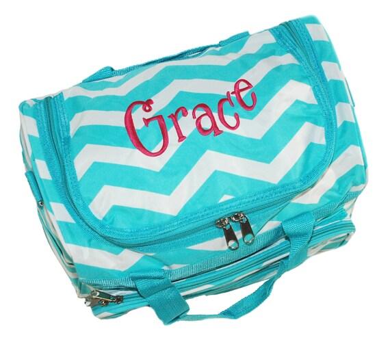 Monogrammad Small Aqua Travel Bag Canvas Duffle Bag Girls  475188e7f595e