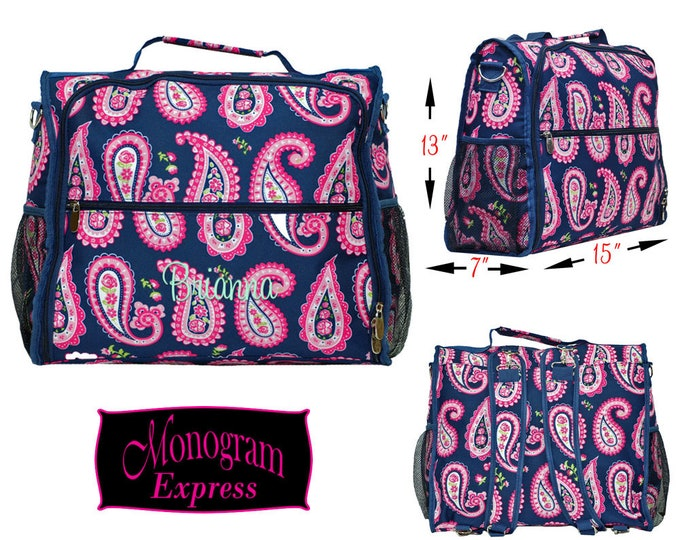 Monogrammed Diaper Backpack | Personalized Diaper Backpack | Nursing Bag | Baby Diaper Bag | Baby Shower Gift | Pink Paisley Diaper Backpack