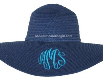 Monogrammed Floppy Hat   Personalized Hat   Crushable Hat   Wedding Party Hat   Beach Hat   Pool Hat   Shade Hat   Vacation Hat   Floppy Hat