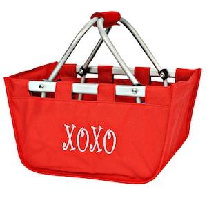Mini Bridesmaids Gift Mini Market Basket Tote Monogrammed Mini Market Tote Personalized Mini Market Tote Monogrammed Mini Market Tote