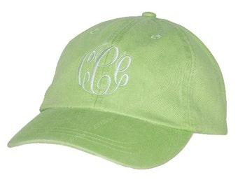 Monogrammed Baseball Hat   Personalized Baseball Hat   Bridesmaid Baseball Hat   Ladies Cap   Shade Hat   Sun Hat   Lime Green Baseball Hat