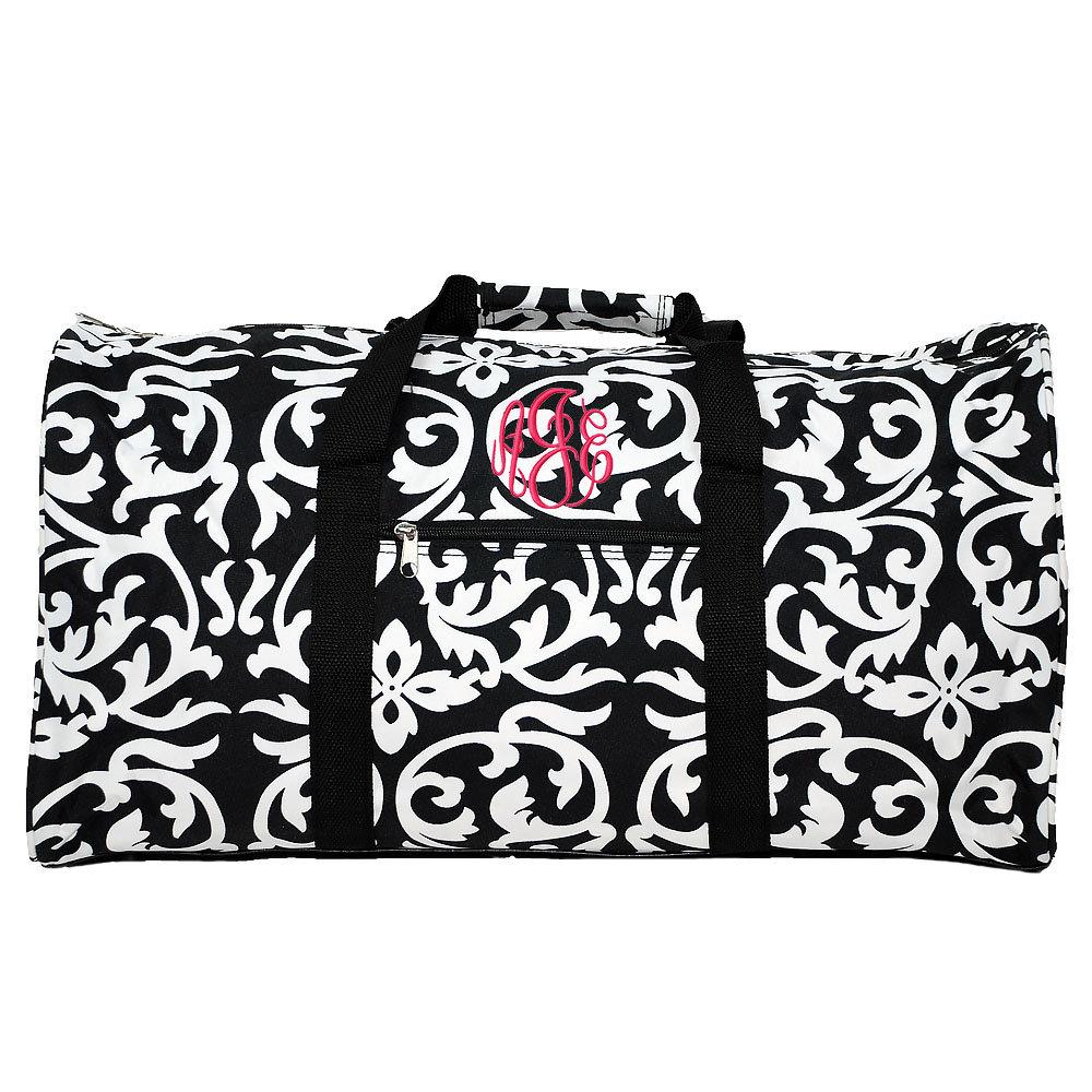 825b5e70b9 Monogrammed Duffel Bag Personalized Travel Bag Monogrammed Gym Bag  Overnight Bag Personalized Birthday Gifts 21  Damask Round Duffle Bag