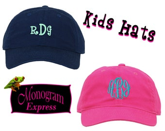 Personalized Kids Cap | Monogrammed Hat | Embroidered Baseball Hat | Child Sun Hat | Unisex Hat | Personalized Gift | Adjustable Kids Cap