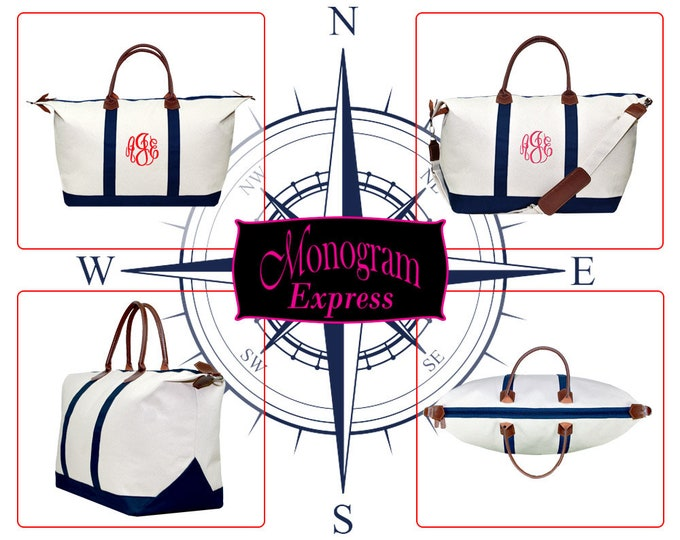 """Personalized Canvas Travel Bag 