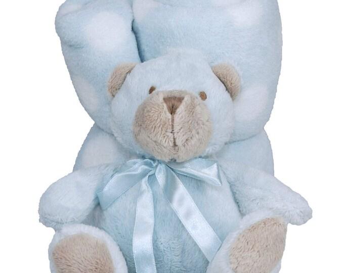 Personalized Baby Gift   Security Blanket   Monogrammed Babies Blanket   Polka Dot Blanket   Pink and White Blanket   Blue and White Blanket