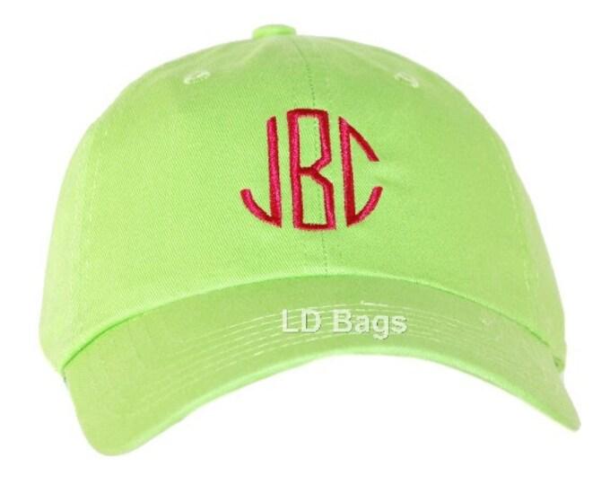 Personalized Baseball Hat | Monogram Baseball Hat | Bridesmaid Hat | Sun Hat | Ladies Shade Hat | Unisex Baseball Hat | Green Baseball Hat