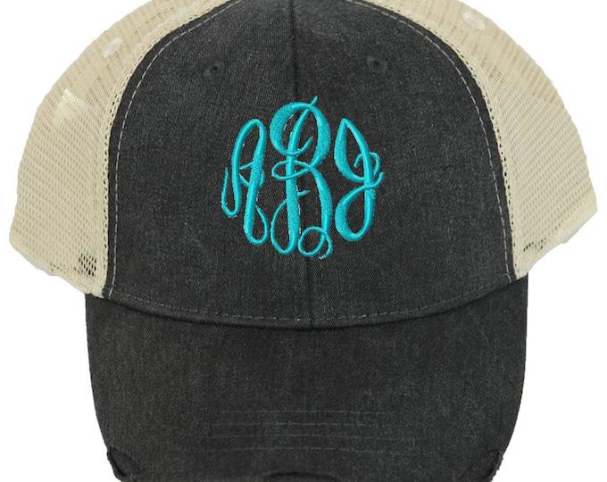 Personalized Trucker Hat | Women Baseball Hat | Monogrammed Baseball Hat  | Bridesmaid Trucker Hat | Trucker Cap | Black Beige Mesh Back Hat