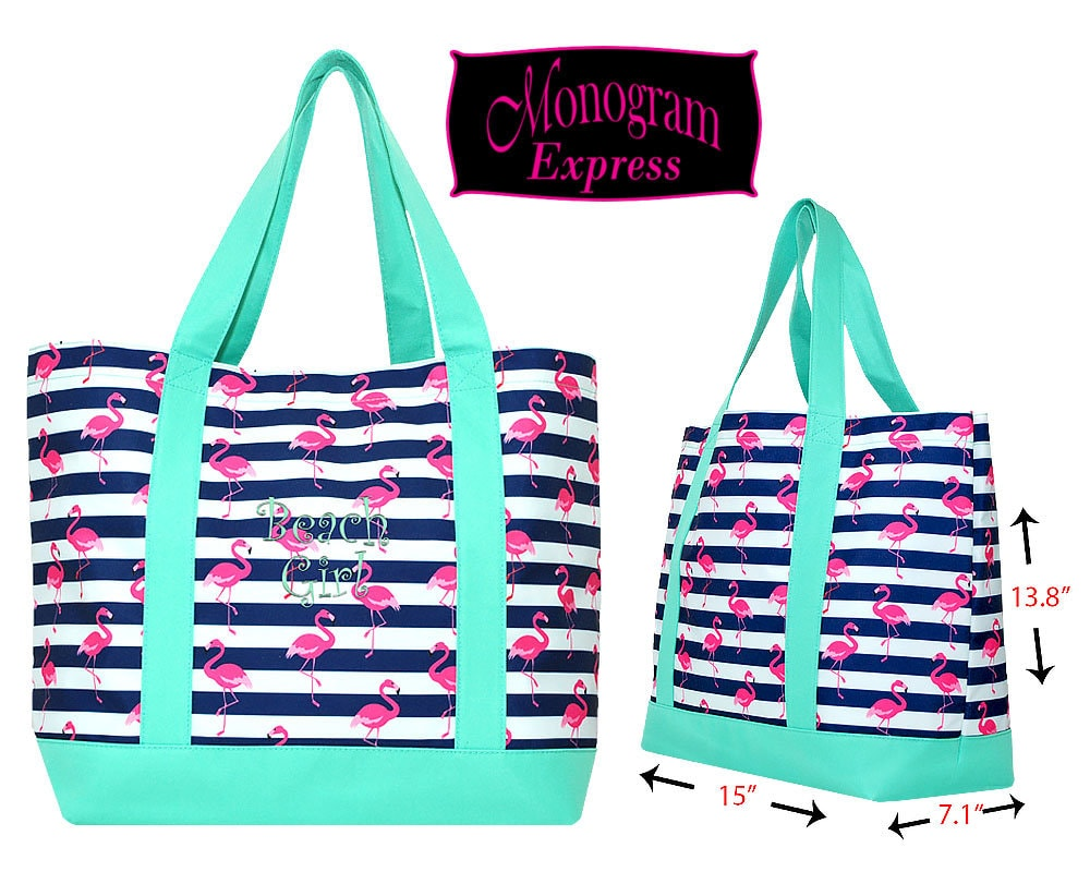 43bb9413125 Monogrammed Tote Bag | Personalized Tote Bag | Large Beach Pool Tote ...