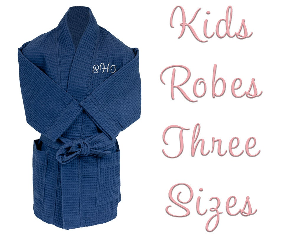 Personalized Kids Waffle Robes  0116afb0a