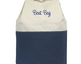 Monogrammed Laundry Tote | Dorm Room Laundry Bag | Boat Bag | Personalized Laundry Bag | College Bag | Heavy Canvas Round Laundry Bag