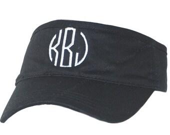 Personalized Baseball Hat, Personalized Baseball Cap, Monogram Visor, Monogram Hat, Sun Hat, Monogram Golf Hat, Black Monogrammed Visor
