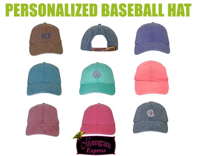 Monogram Baseball Hat | Personalized Baseball Hat | Bridesmaid Hat | Sun Hat | Beach Hat | Monogram Beach Hat | Adams Hats | Pigment Dyed
