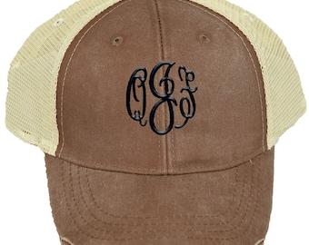 Personalized Trucker Hat   Women Baseball Hat   Monogrammed Baseball Hat    Bridesmaid Trucker Hat   Trucker Cap   Mississippi Mud Mesh Back