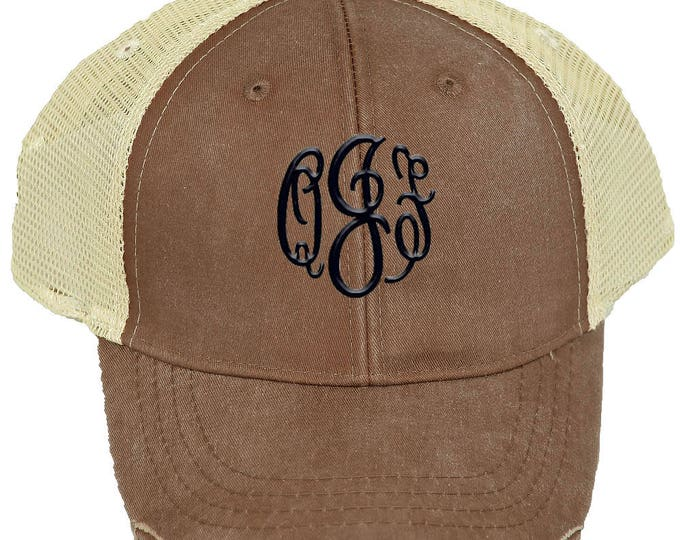 Personalized Trucker Hat | Women Baseball Hat | Monogrammed Baseball Hat  | Bridesmaid Trucker Hat | Trucker Cap | Mississippi Mud Mesh Back