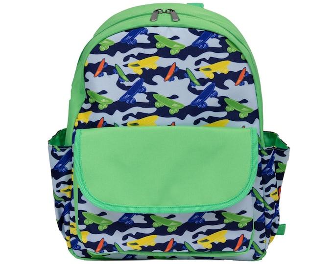 Monogrammed Toddler Backpack | Kids Bookbag | Kindergarten Backpack | Personalized Daycare Backpack | Kids Backpack | Skateboard Backpack