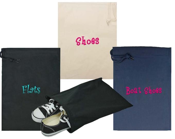 Personalized Shoe Bag   Shoe Bags Bridesmaid   Shoe Bag    Shoe Bags for Travel   Small Essential Bag   Overnight Bag   Travel Shoe Bag