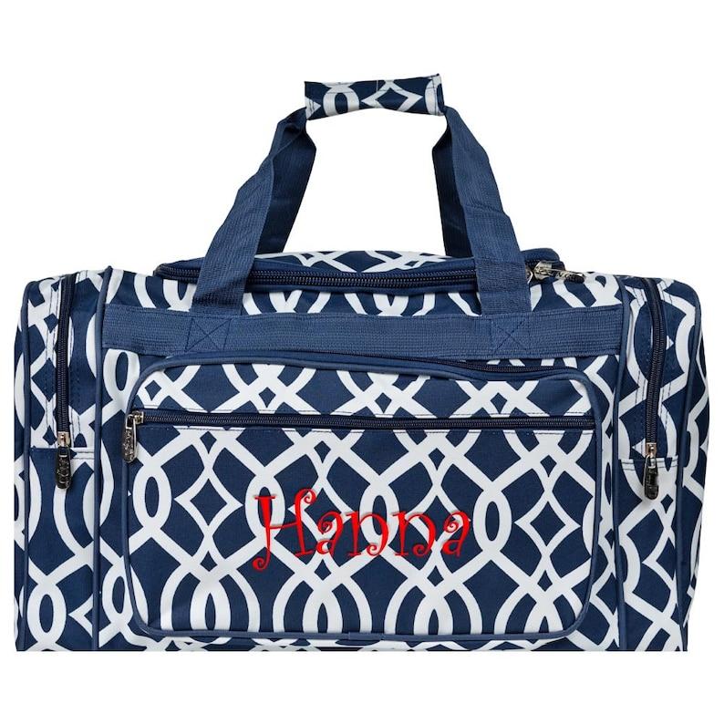 beaf41386c Monogrammed Duffle Bags Personalized Bridesmaid Gift Monogram
