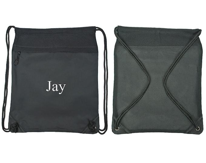 Cinch Sack Backpack | Drawstring Cinch Sack | Boys Backpack | Girls Backpack | Sport Backpack | Travel Cinch | Black Sackpack Cinch Sack