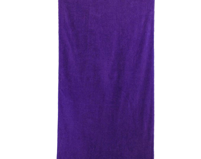 Monogrammed Beach Towel   Cabana Towel   Personalized Pool Towel   Bath Towel   Childrens Towel   Unisex Beach Towel   Solid Purple Towel