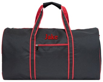 Mens Duffle Travel Bag Personalized Travel Duffle Overnight Duffle Bag Men's Travel Bag Sports Duffle Bag School Duffle Red Duffle Bag