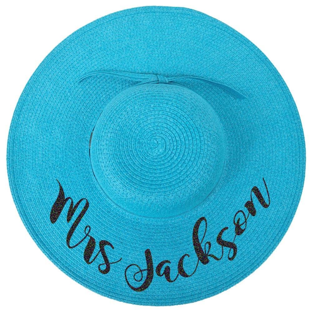 47cb0576b8e Personalized Bride Floppy Hats