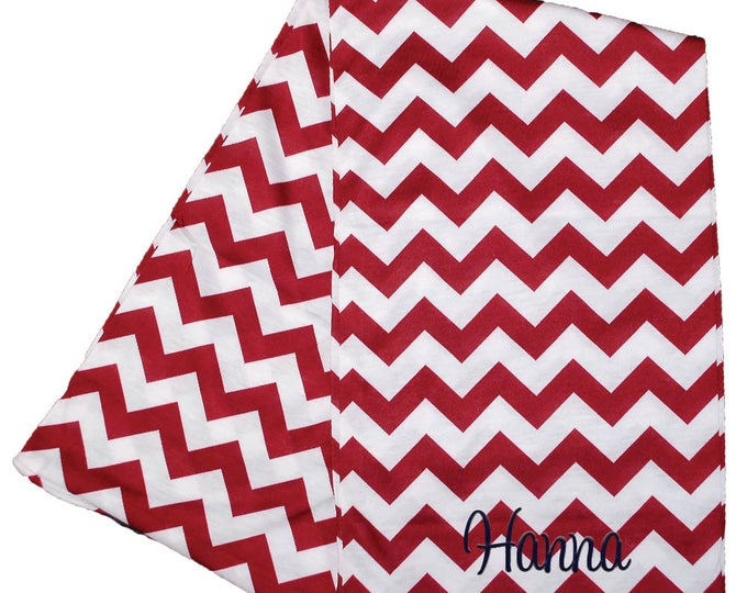 Womens Infinity Scarf | Monogrammed Scarf | Personalized Infinity Scarf | Continuous Loop Scarf | Zig Zag | Burgundy Chevron Infinity Scarf