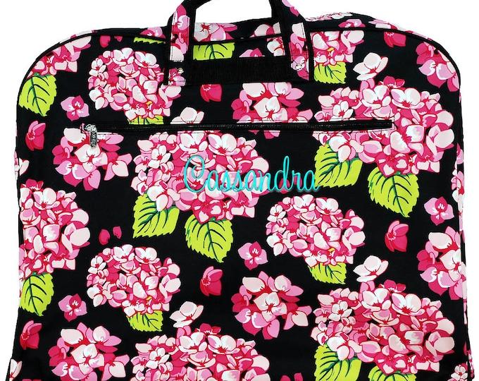 Monogrammed Garment Travel Bag   Dance Bag   Cheer Uniform Bag   Women Hanging Luggage   Travel Bag   Personalized Gift   Carolina Hydrangea