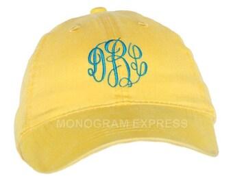 Personalized Baseball Hat   Monogrammed Baseball Hat   Bridesmaid Hat   Golf Hat   Baseball Cap   Sun Hat   Yellow Stonewashed Baseball Hat