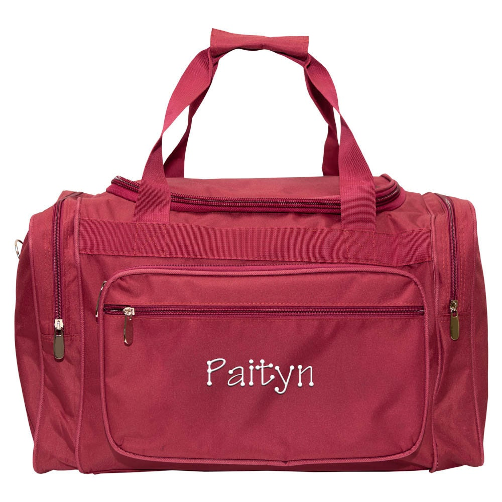 "79248fb6762b Monogrammed Overnight Bag Personalized Travel Bag Girls Duffle Bag  Monogrammed Duffle Bag Mens Duffle Bag Luggage Burgundy 22"" Duffle Bag"