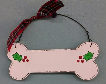 Dog Bone Christmas Ornament
