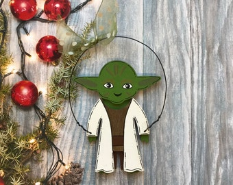 Yoda, Star Wars Personalized Christmas Ornament