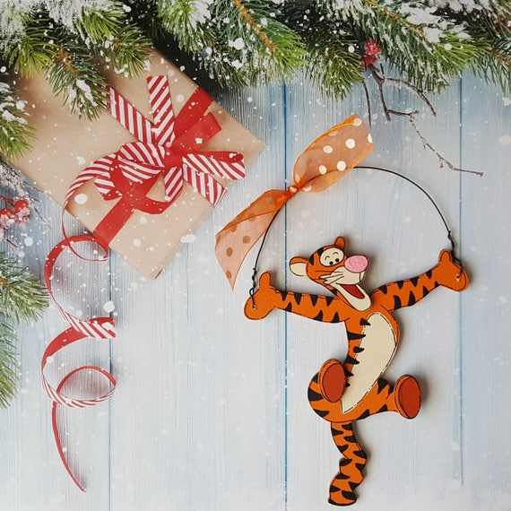 Tigger Christmas Ornaments.Winnie The Pooh Christmas Ornament Tigger Eeyore Personalized Christmas Ornament
