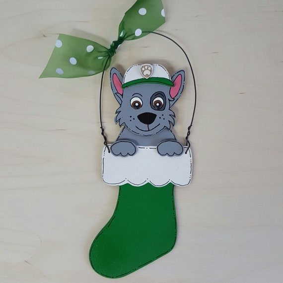 Paw Patrol Christmas Ornament.Rocky Paw Patrol Christmas Ornament Chase Marshall Rubble Skye Zuma